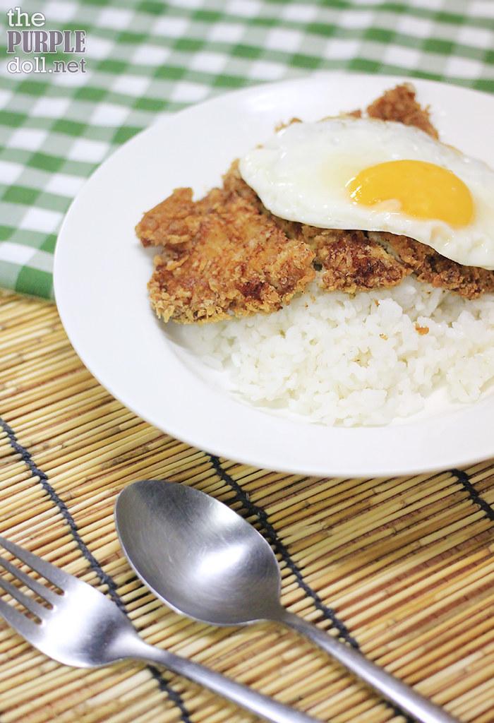 Katsu and Egg with Rice