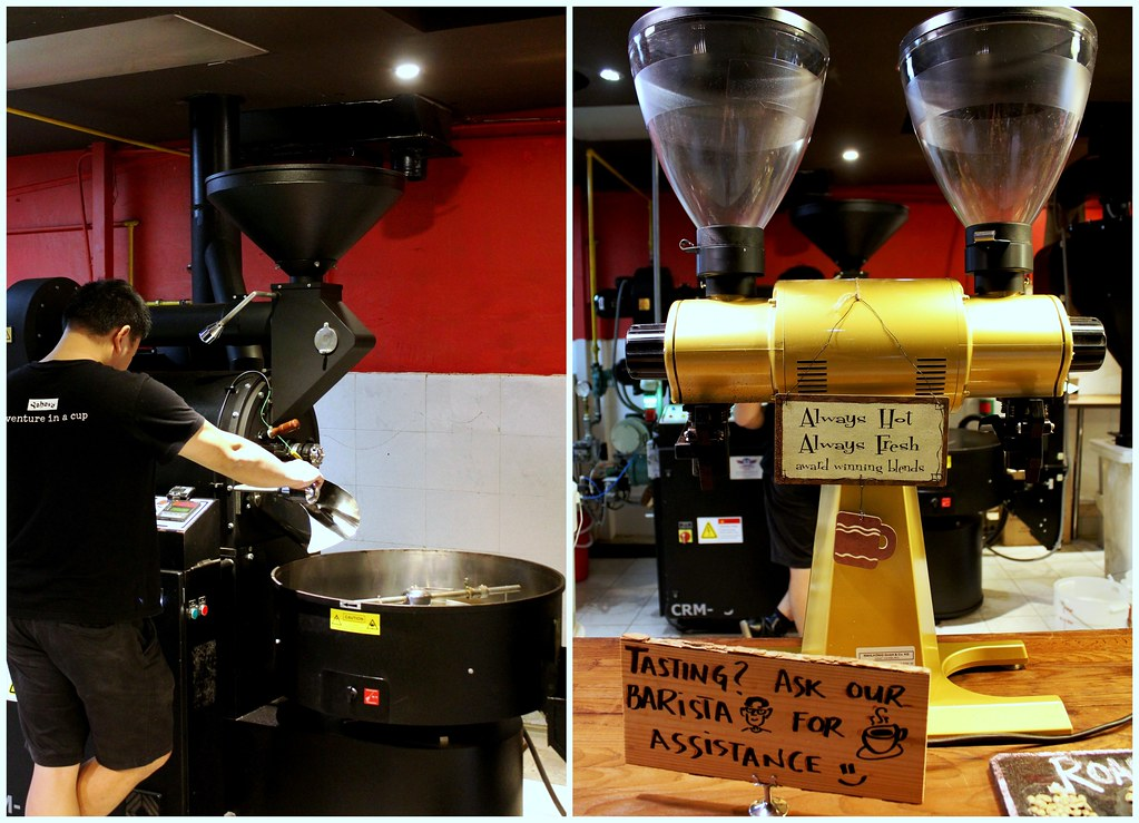 Ultimate Upper Thomson Food Guide: Yahava Koffeeworks roast machine