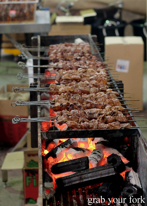 Movida and Flinders Island wallaby skewers at Rootstock Sydney 2015