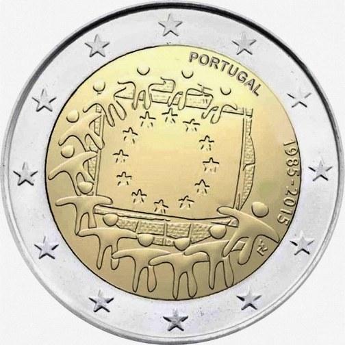 2 Euro Portugalsko 2015, Vlajka EÚ