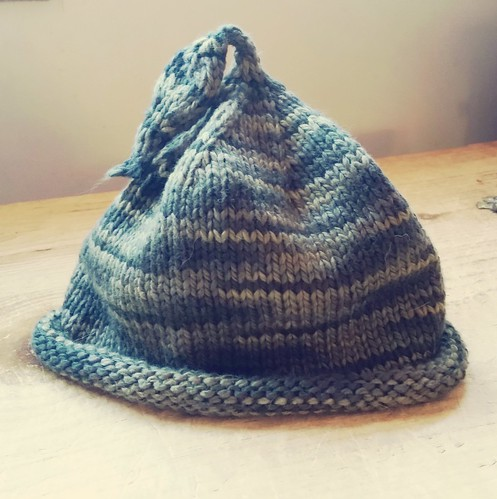 handknit baby hat by Lapdog Creations