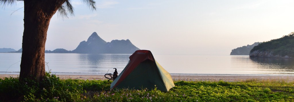 Wild camping in Thailand