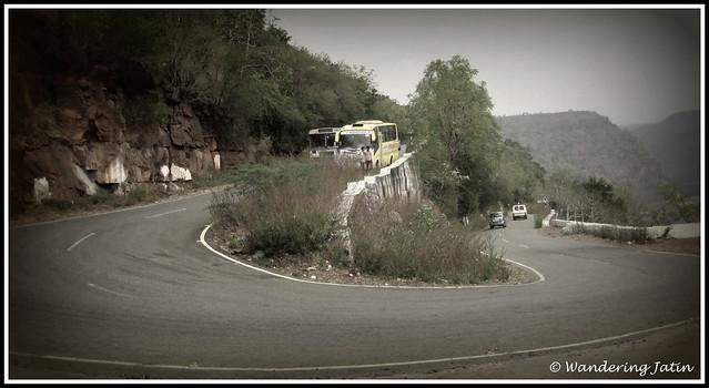 Ghats en route Srisailam Dam