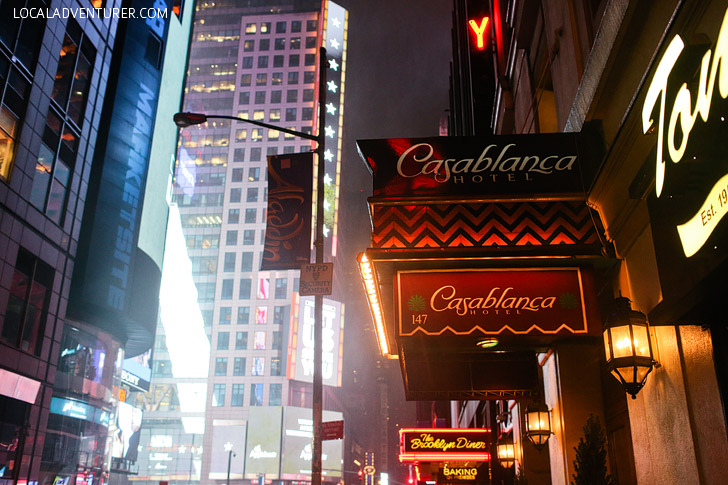 Casablanca Hotel NYC was modeled after the movie Casablanca. It's located in the heart of Times Square and makes it convenient to walk to all the iconic parts of the city.