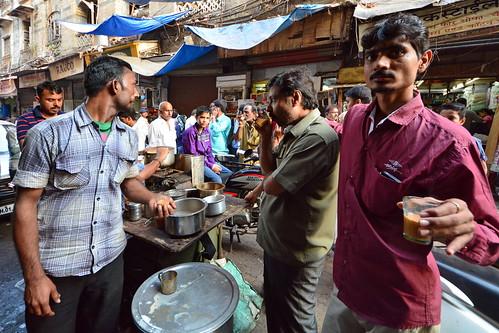 India - Maharashtra - Mumbai - Streetlife - Tea Stall - 2