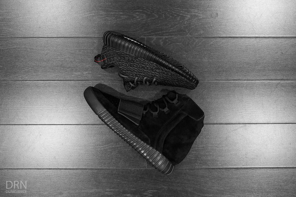 Adidas Black Yeezy 350 & 750.