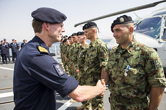 Operation Atalanta Force Commander was pleased to preside at the medal ceremony for the Serbian AVPD aboard HNLMS Tromp