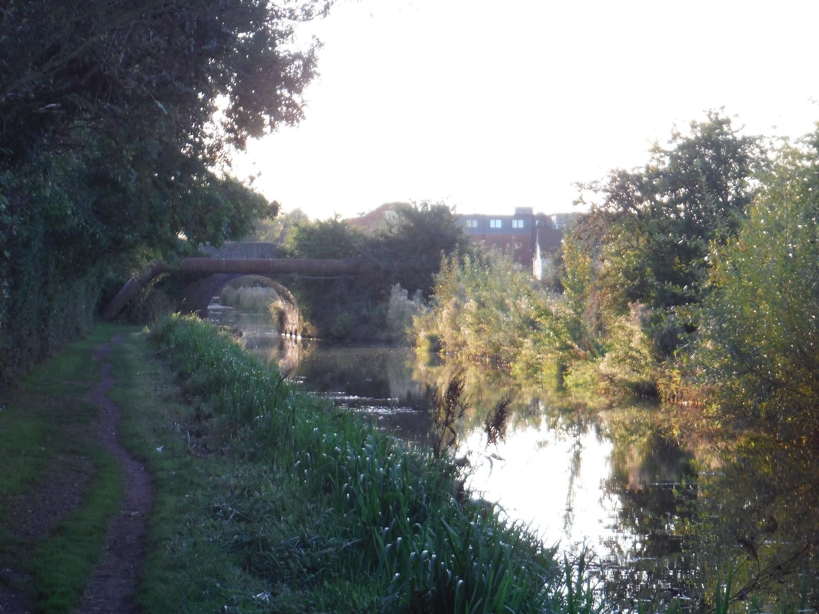 Bridge on Fringes of Aylesbury crossing Grand Union Canal SWC Walk 194 Aylesbury Vale Parkway to Aylesbury