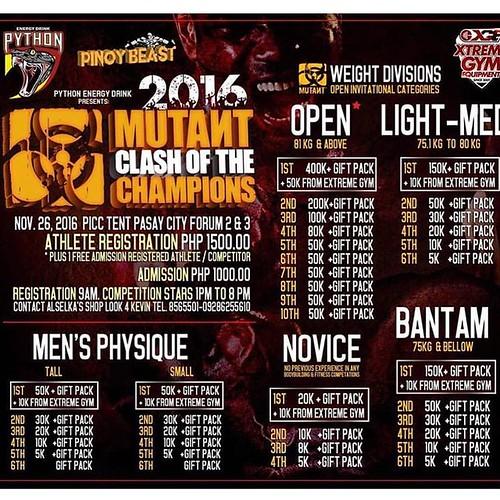 Mutant clash of the champions Philippines 26 Nov 2016 @mutantnation  @pythonenergydrink .. .. .. .. #cardio #dedication  #bodybuilding #muscles #muscle #Kuwait #q8 #kuw  #o2 #oxygen #protein #snapchat #الكويت #السعودية #الامارات #البحرين #قطر #دايت #رجيم