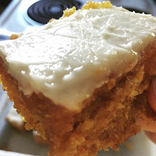 Mom brought pumpkin cake! #cake #pumpkin