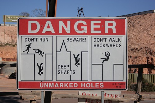 Danger Sign Coober Pedy