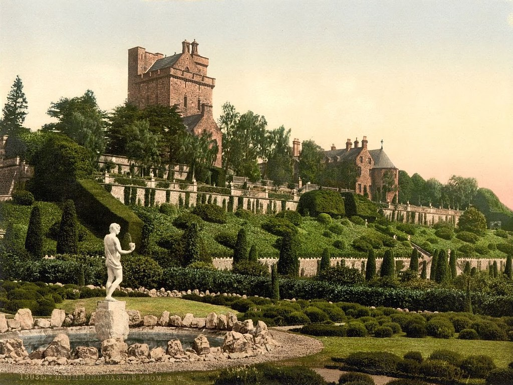 Drummond Castle from S.W. (i.e., Southwest), Scotland