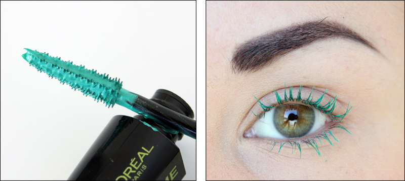 Miss Manga Punky Mega Volume mascara green swatch