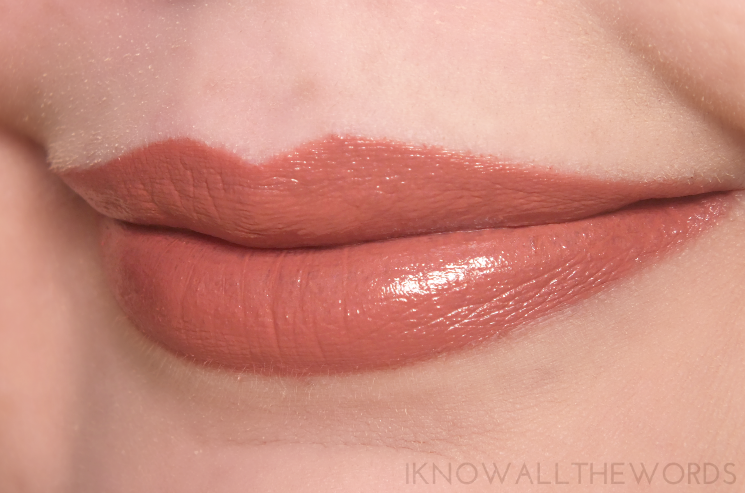 Clarins Lip Pencil 03 Nude Rose topped with Clarins Joli Rouge 747 Rosey Nude