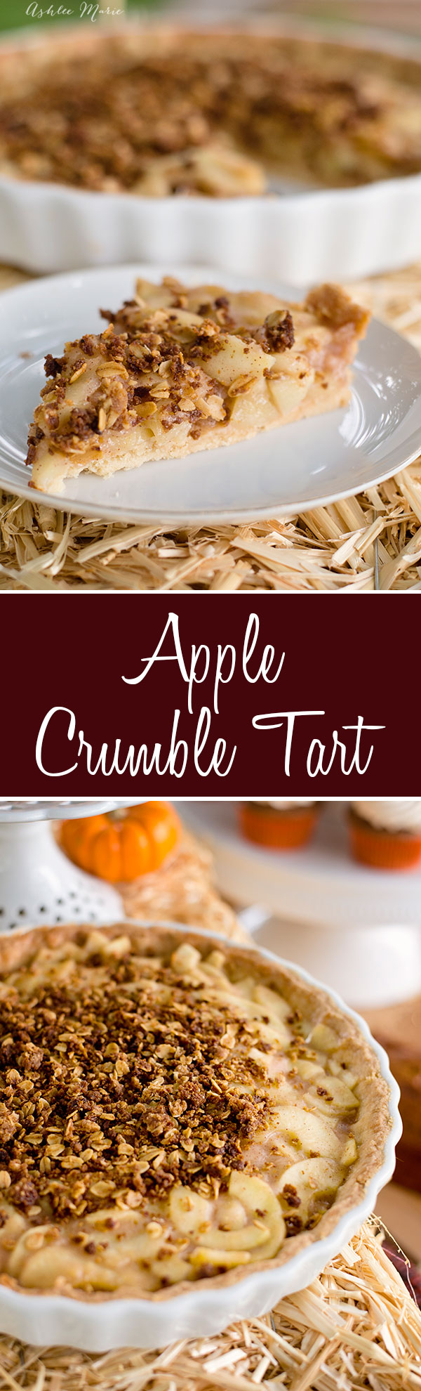 Similar to an apple pie in flavor the tart crust, filling and crumble are all cooked separately then put together for a delicious dessert with a great crunch