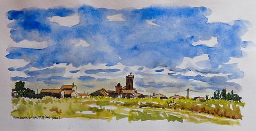 Spanish village. Castilla y León
