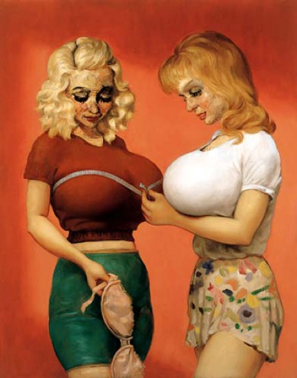 John Currin, The Bra Shop, 1997