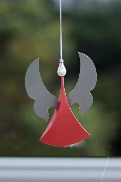 Sculpted Paper Angel Ornament