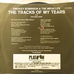 SMOKEY ROBINSON & THE MIRACLES:THE TRACKS OF MY TEARS(JACKET B)