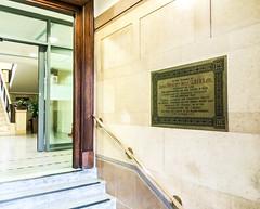 Photo of James Prescott Joule brass plaque