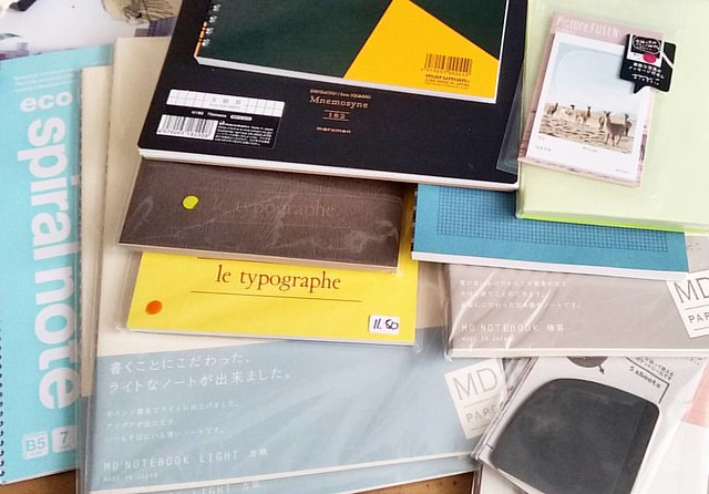 My rediculous pile of new notebooks and writing paper! #midori #maruman #letypographe #stationery #stationaryaddict #notebook #fpgeeks #FPN #fountainpenfriendly #shopping #miscellaneous #miscstore #penshopNL