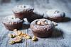 Protein Chocolate Date Tahini  Muffins