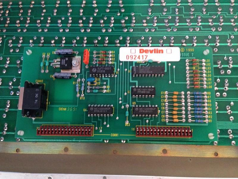 The keyboard's circuitry