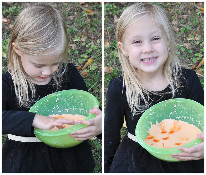 Candy Corn Slime Sensory Play