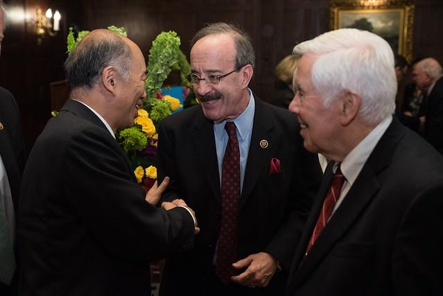 Congressman Engel, Ambassador Sasae and Senator Lugar
