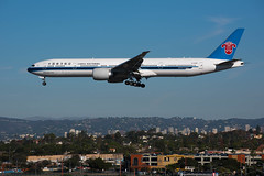 China Southern Boeing 777 approaches LAX