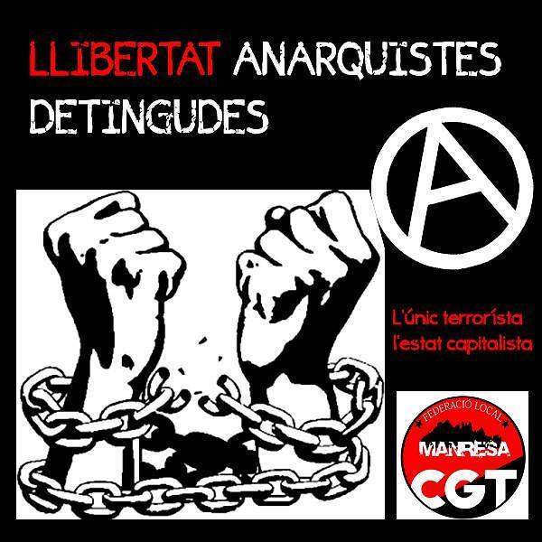 Llibertat anarquistes detingudes. CGT Manresa
