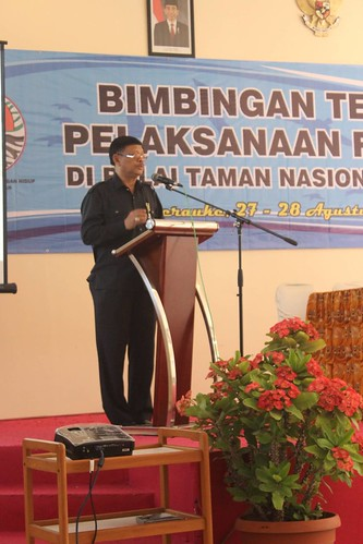 Director of Biodiversity Conservation open the event