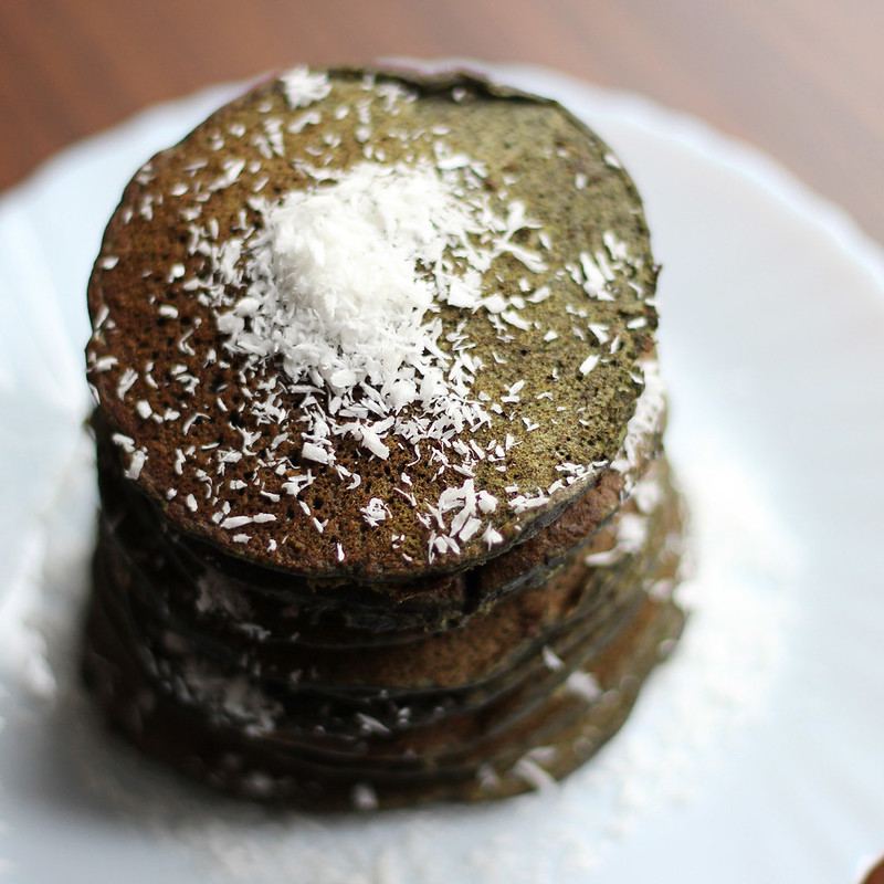 Green Tea Buckwheat Pancakes