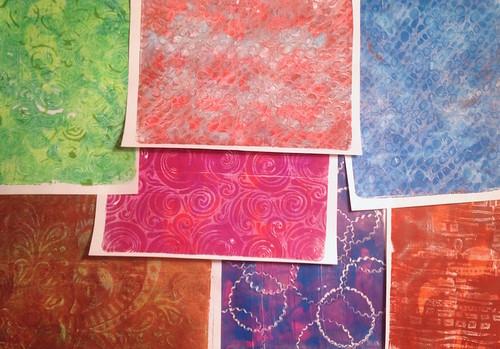 A few new Gelli® prints