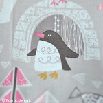 Snow days, Winter Wonderland Grey fabric