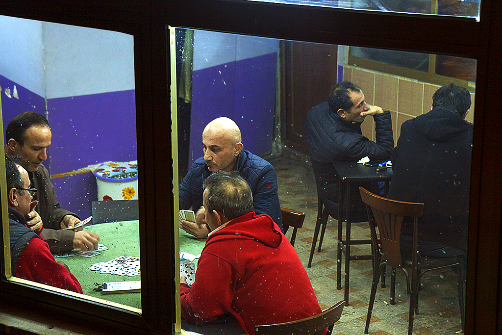 Men playing cards--Istanbul