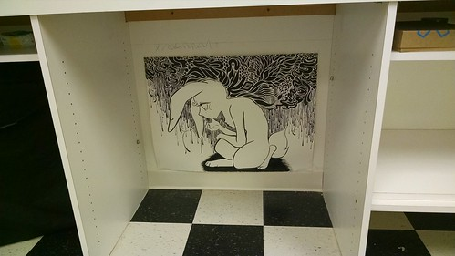Drawing Displayed at Artomatic
