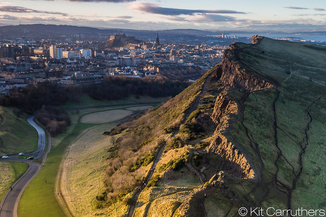 Salisbury Crags sunset
