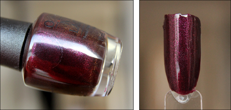 OPI rich & brazilian swatch