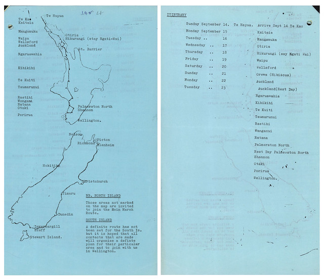 Māori Land March (1975) - Route of March