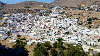 Image of Lindos near Líndos. town village greece acropolis fortress lindos lgg4