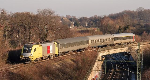 16.01.2006 Bochum Langendreer. Siemens dispolok ES 64 U2 - 045 Abellio RB40 Hagen