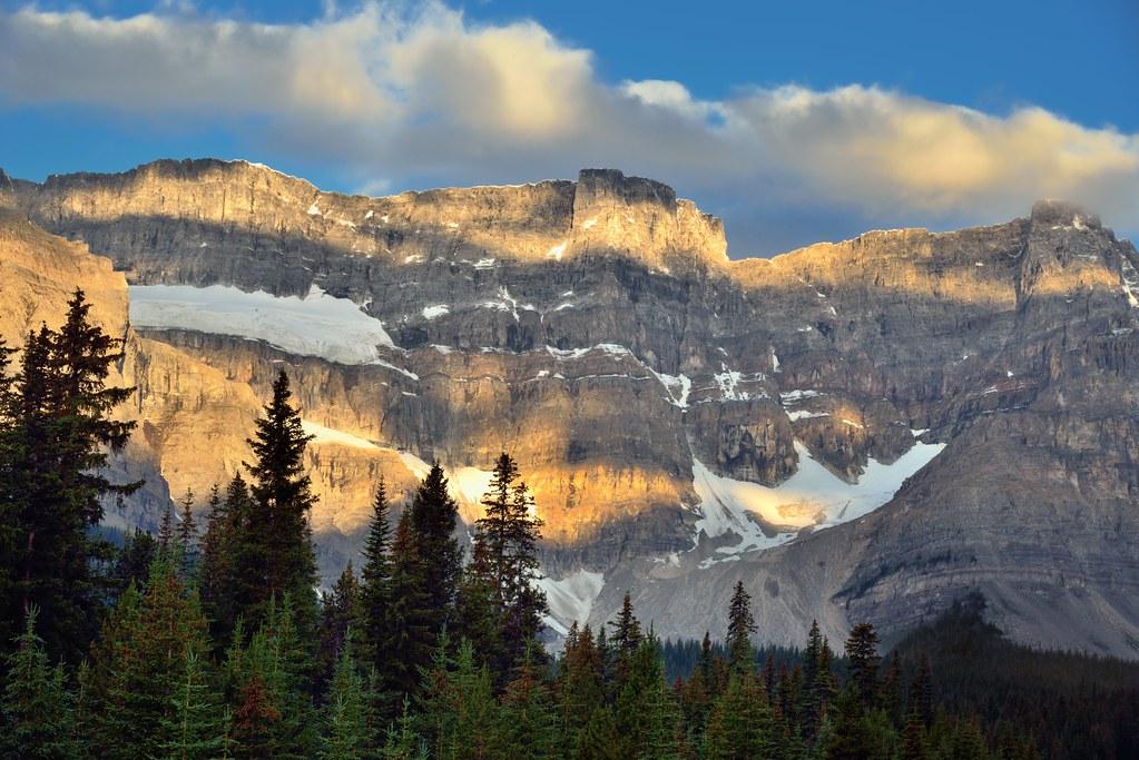 Peaks Along the Waputik Mountains Range (Icefields Parkway)