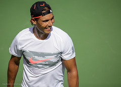 Rafael Nadal practice session