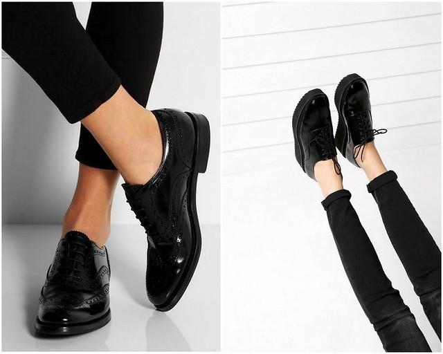 mustat kiiltävät kengät