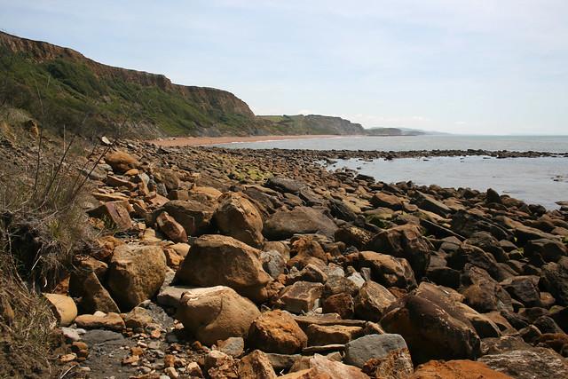 The beach west of Eype