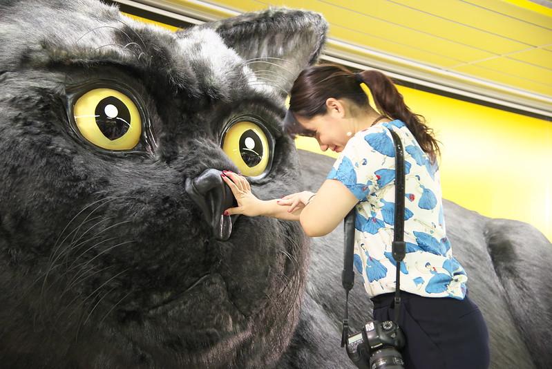新宿巨大クロネコ全国行脚出発式