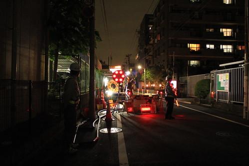 日本コムシスさま 夜間工事風景