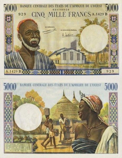 5000 Frankov Benin 1970 P204Bj - REPLIKA