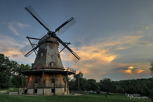 sunset sky snow chicago windmill illinois geneva dusk il hdr fabyan